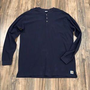 Carhartt XL Tall Long Sleeve Quarter Button Shirt